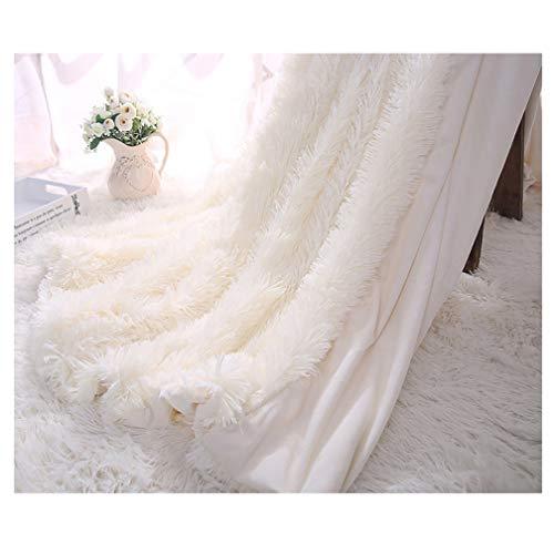 ARKEY Kuscheldecke Weiß Felldecke 130 * 160cm Langhaar Decke Microfaser Kunstfell TV Decke Flauschig Klimaanlage Decke für Couch Bett -