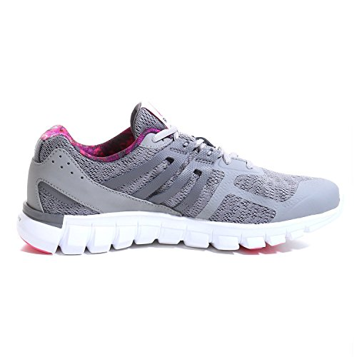 Reebok Sublite XT Cushion GP MT Scarpa Sportiva, Donna Multicolore (Gris / Rosa / Blanco (Tin Grey/Shark/Solar Pink/White))