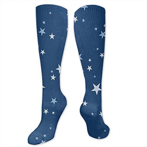 CVDGSAD Big Tall Casual Sports Socken for Men Dark Blue Star Unisex Non Slip Boot Socken Long Stocking Women Training - Big Star-boot