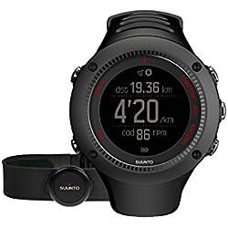 Suunto - Ambit3 Run HR - SS021257000 - Reloj GPS Multideporte + Cinturón de frecuencia cardiaca (Talla M) - Sumergible 50 m - Negro