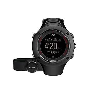 Suunto Ambit3 Run HR, Orologio GPS con fascia cardio, Nero