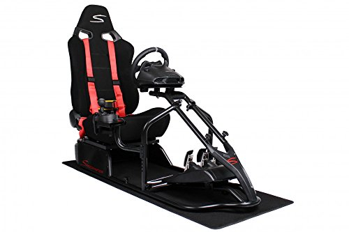 Speedmaster S Rennsitz Schwarz - Wildleder Optik / Fabric Mix Schwarz - Gameseat - Simracing