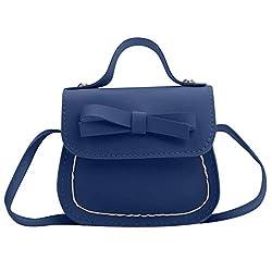 CALVINBI Taschen Damenmode Mini süßeTasche Bogen Umhängetasche Kinder Messenger Bag Geldbörse
