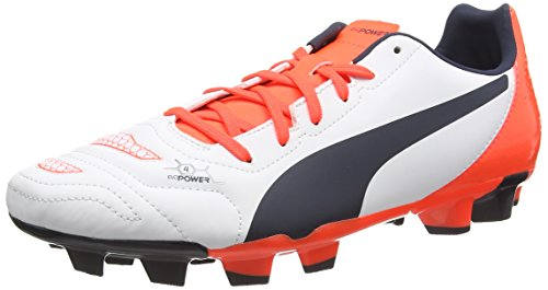 Puma Evopower 4.2 Fg, Chaussures de Football homme Blanc (white-total Eclipse-lava Blast 07)
