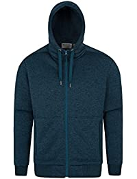 08c7fc25603 Mountain Warehouse Nevis Mens Fur Lined Hoodie - Soft Fleece Sweatshirt