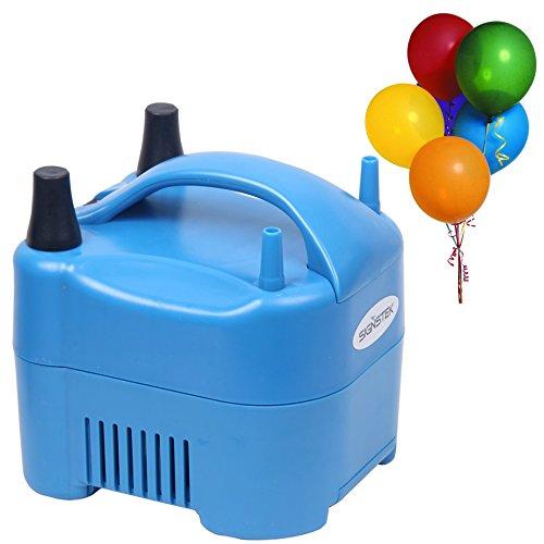 Signstek Tragbare elektrische Ballonpumpe Air Gebläse Kompressor 17000Pa Dual Düsen 900L/min Air Volumen Luftballons (UK-Stecker)