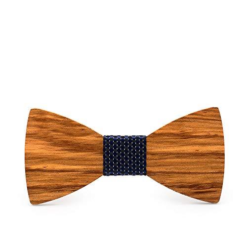 ChenYongPing Pajarita para Hombre Corbata de Lazo para Adultos Corbata de Madera Hecha a Mano de Madera Hombre y Mujer de Negocios Corbata de Boda Pajarita de Cuero para Hombre