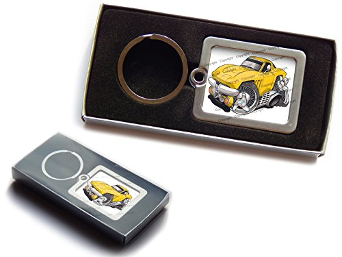 chevrolet-corvette-c2-official-koolart-premium-metal-keyring-with-gift-box-choose-a-colour-yellow