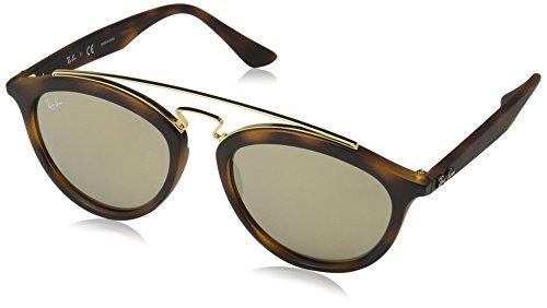RAYBAN Unisex Sonnenbrille Model: 4257 Mehrfarbig (Gestell: havana, Gläser: hellbraun verspiegelt gold 60925A) Large (Herstellergröße: 53)