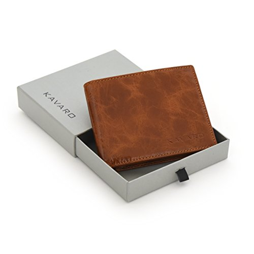 Herren Geldbörse Portemonnaie aus Echt-Leder | RFID-Schutz | ohne Münzfach | schwarz & braun (braun) (Schwarz Geldbörsen)