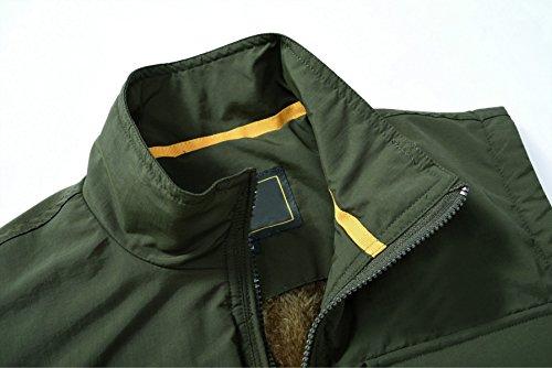 YanLL Medio Età Plus Cashmere Caldo Vest Multipocket Imbottito Gilet Caccia Outdoor Camminando Fotografia Pesca Navy