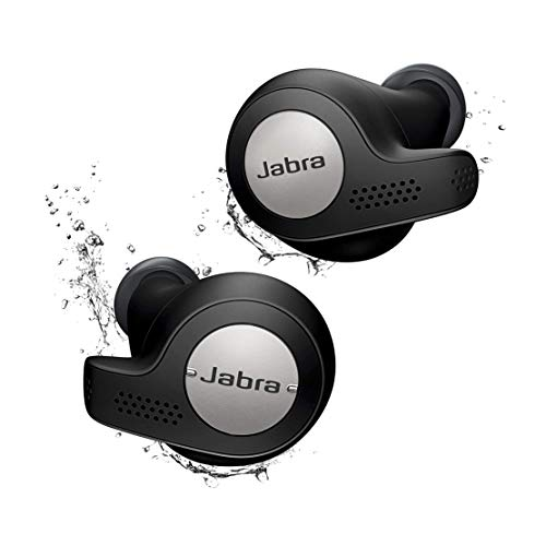 Jabra Elite Active 65t Écouteurs Bluetooth 5.0 True Wireless Sport avec le service vocal Amazon Alexa intégré - Noir