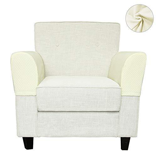 Stoff Sofa, Sofa Loveseat Sessel (BETTERLE Armlehnenbezug, dehnbares Gewebe für Ihre Möbel, Anti-Rutsch-Armlehnenbezug, für Stoff- und Leder-Liegestühle, Sessel, Loveseats und Sofas, 2 Stück/Set Style01)
