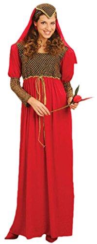 Julia Kostüm- Romeo und Julia- Kleid puls Kopfteil, 38-40, Rot (Viktorianischen Diener Kostüme)