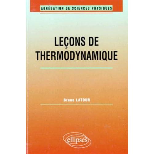 Leçons de Thermodynamique : Agrégation de sciences physiques