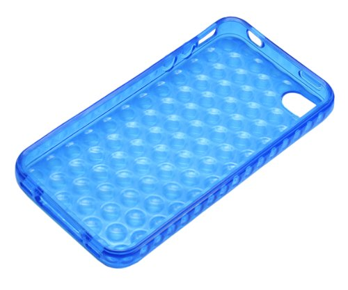 Xcessor Bubbles - Flexible TPU Schutzhülle für Apple iPhone SE / 5S / 5 mit Optical Illusion Bubble-Effekt. Blau / Transparent Blue / Transparent