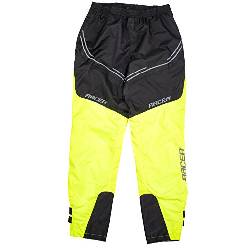 Racer FLEX Regenhose Motorrad - fluo gelb schwarz (3XL)