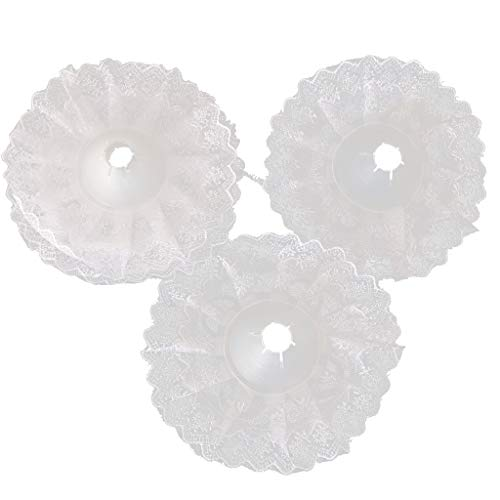 perfeclan 5pcs Spitzenkragen Blumenstrauß Halter, ca. 10 Zoll - Weiß