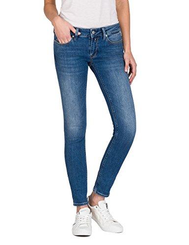 - Reißverschluss Vorne-leder-hosen (Replay Damen LUZ Skinny Jeans, Blau (Mid Blue Denim 9), W26/L30)