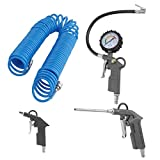Professional 4 PCS Air Compressor Gun Set 1/4 Inch Blow-Out Spray Gun With 15M Hose Portable Air Duster Compressor Accessories