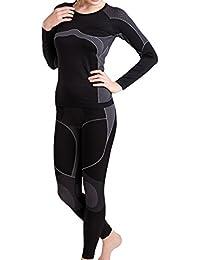 Damen Sport Funktionswäsche Set Seamless (Hemd &Hose) von celodoro - Ski-, Thermo- & Funktionsunterwäsche ohne störende Nähte - verschiedene Farben