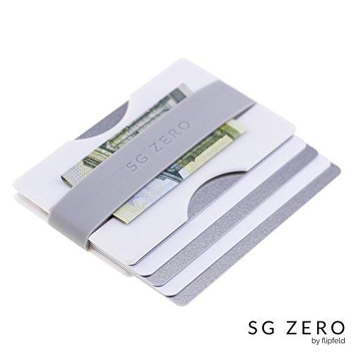 Kompaktes Kredit-Kartenetui aus stabilem Polycarbonat für 4 bis 12 Karten | Portemannaie mit Geldklammer | minimalistische Geldbörse, Brieftasche und Geldbeutel für Damen und Herren