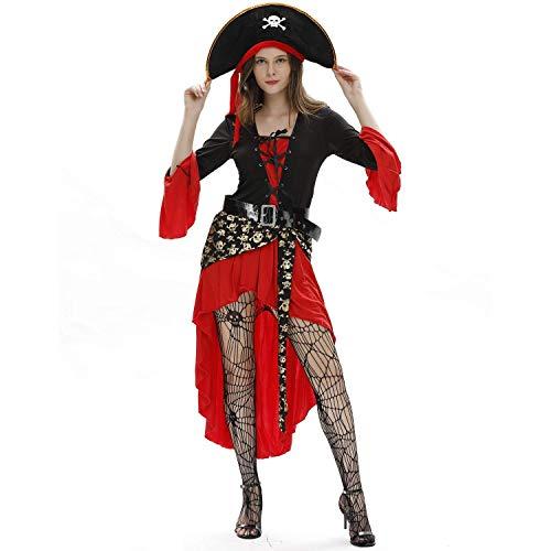 Halloween Piraten der Karibik Anzug Uniformen Matrosenanzüge, Karneval unter dem Motto Maskerade Kostüm Kostüme,XL ()