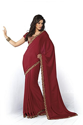 Subhash Sarees Chiffon Saree (Ss_4117_Red)
