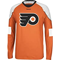 Philadelphia Flyers Reebok NHL Edge Jersey Maglia Long Sleeve T-shirt camicia