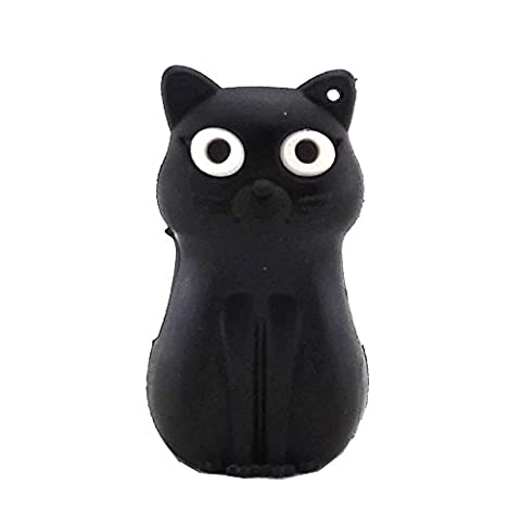 Aneew Pendrive 16GB Black Sitting Cat USB Flash Drive Memory Stick
