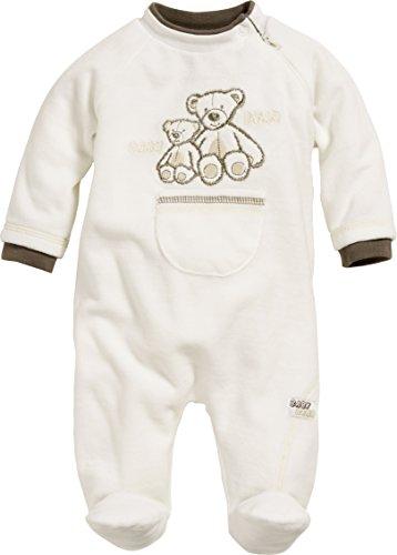 Schnizler Unisex Baby Schlafstrampler Schlafanzug Nicki Bär, Oeko Tex Standard 100, Gr. 56, Beige (natur 2) (Bär Strampler)