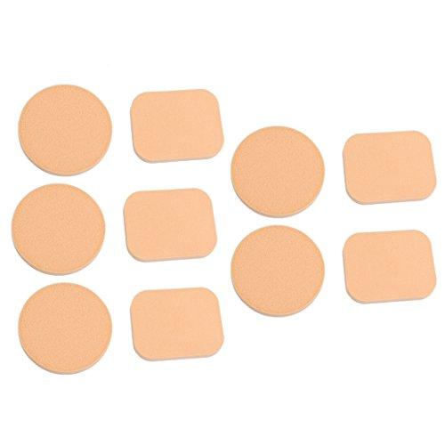 sourcingmap® 5 Paires Maquillage Cosmétique Visage Plateau En Mousse Base Coussin De Poudrage Peachpuff