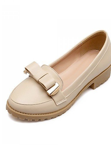Chaussures Femme Shangyi - Ballerines - Bureau Et Travail / Formel / Décontracté - Confortable - Bas - Synthétique / Similicuir - Noir / Rose / Blanc / Beige Rose