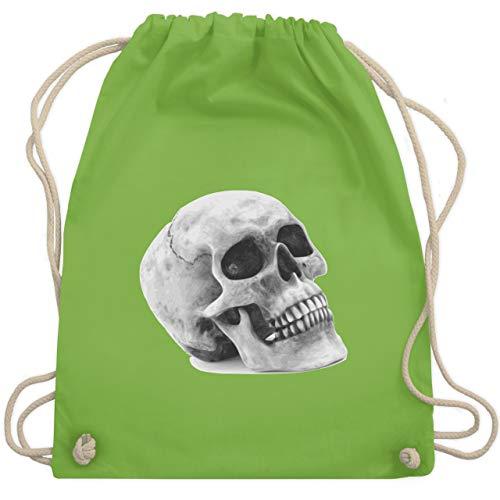 Kostüm Knochen Lustig Kleinkind - Piraten & Totenkopf - Totenkopf Skull - Unisize - Hellgrün - WM110 - Turnbeutel & Gym Bag