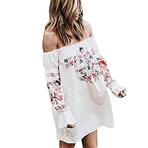 Manteau D Ete Femme Blanc - Robe Droite Style Bardot, OverDose Robe D'éTé