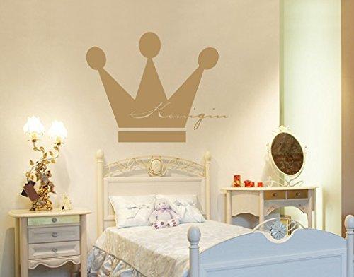 Wandtattoo No.UL318 Königin könig krone schlafzimmer königin prinzessin, Farbe:Gold;Größe:34cm x 45cm (Prinzessin Krone Wandtattoo)