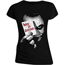 Batman The Dark Knight - Why So Serious? Camiseta Mujer Negro XL
