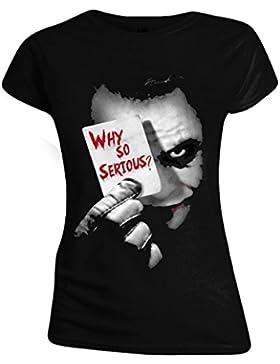 The Joker Why So Serious? Camiseta Mujer Negro