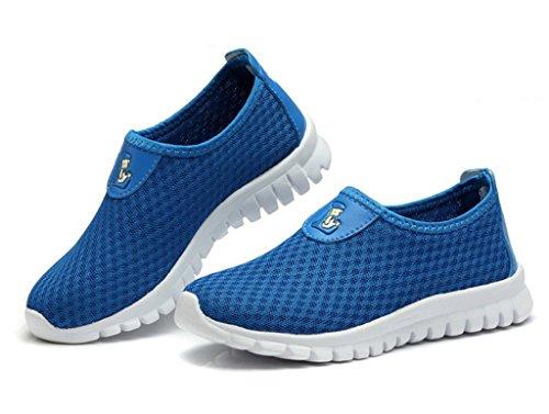 EOZY 1 Paire Chaussure De Multisports Enfant Respirant Double Maille De Lycra Bleu