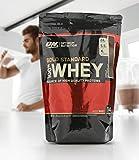 Optimum Nutrition Gold Standard Whey Eiweißpulver (mit Glutamin und Aminosäuren. Protein Shake von ON), Delicious Strawberry, 15 Portionen, 450g
