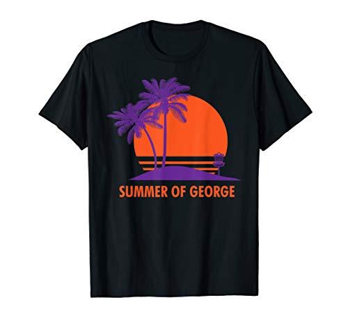 Summer Of George Cool Sunrise Sunset Palm Tree Beach Lake T-Shirt