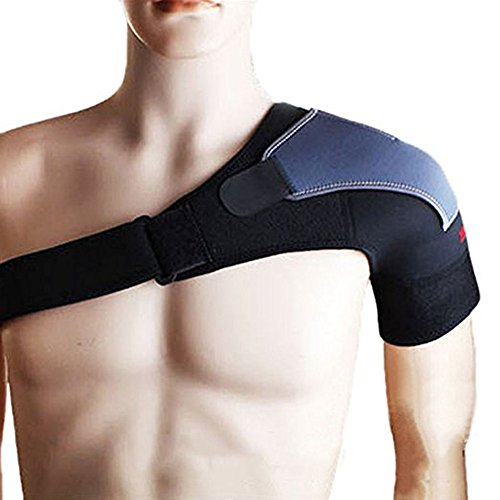 Schulterstütze Gelenk Schutz Gear/verstellbar Pad atmungsaktiv Schulter Stabilität Bandage/Basketball Fitness Sports Schulter Displayschutzfolie, For Left Shoulder