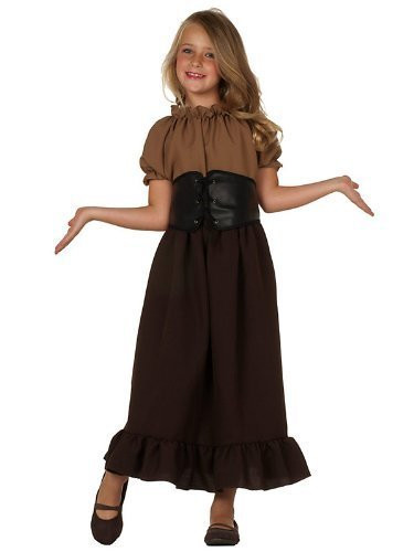 (RG Costumes Renaissance Peasant Girl, Child Small/Size 4-6 by RG Costumes)