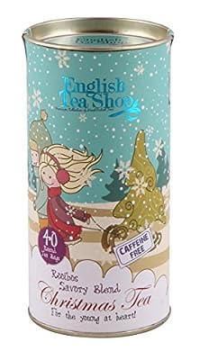English Tea Shop - Thé de Noël - Mélange à saveur de Rooibos bio - 60 grammes - 1 x 40 sacs ronds