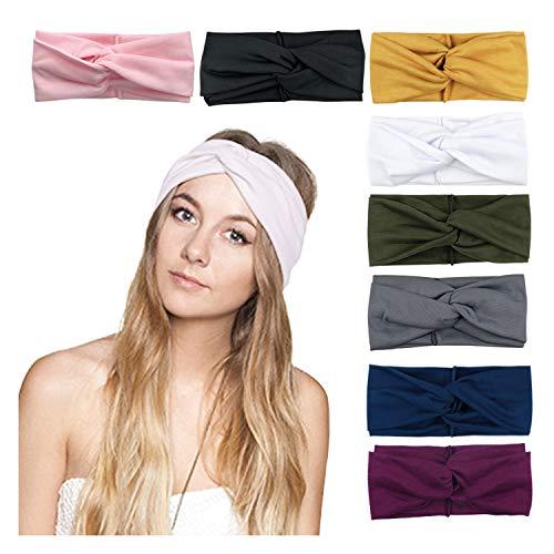 DRESHOW 8 STÜCKE Damen Stirnbänder Headwraps Haarbänder Bögen Zubehör