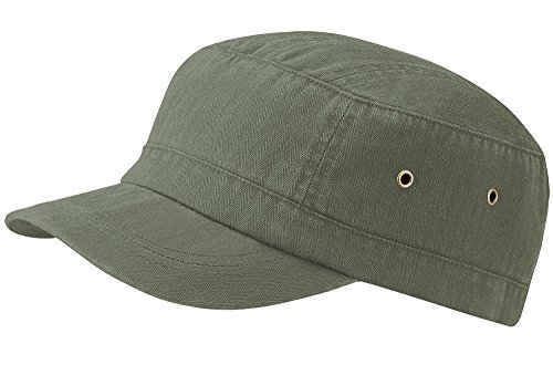 Männer Kuba Kostüm - Beechfield Urban Army Cap Vintage 100% Baumwolle-5Farben