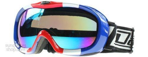 Dirty Dog Goggles 54095 Rot Weiß Blau Scope Visor Goggles Lens Mirrored
