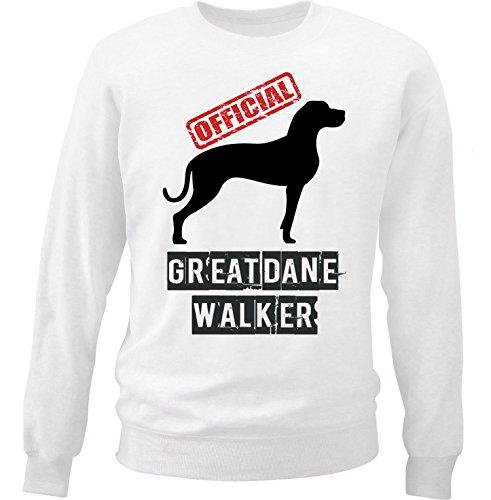 teesquare1st Men's Great Dane 2 - Official Walker White Sweatshirt Size Medium (Sweatshirt Adult Dane Great)