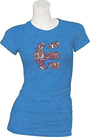 Etnies Girl ICON DOODLE S/S CREW BLUE/HEATHER (XS)