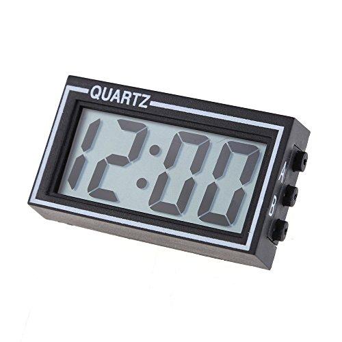 Demiawaking Mini Digital LCD Auto PKW LKW Armaturenbrett Datum Zeit Kalender Uhr schwarz